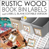 Classroom Library Labels EDITABLE: 424 Book Bin Labels & M