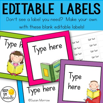 Classroom Library Labels: Book Bin Labels & Matching Book Labels Neon Brights