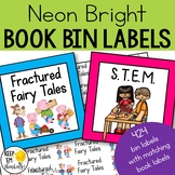 Classroom Library Labels: Book Bin Labels & Matching Book
