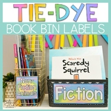 Classroom Library Labels, Book Bin Labels, Tie-Dye Theme