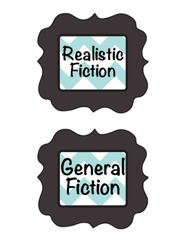 Classroom Library Labels: Book Genres