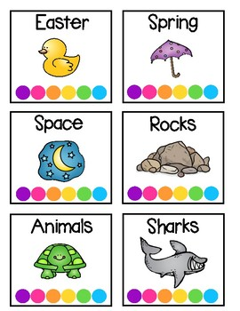Classroom Library Labels - Bright Theme