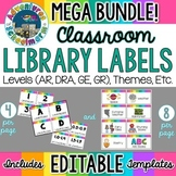 Classroom Library Labels Bundle EDITABLE