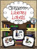 Classroom Library Labels {Burlap}