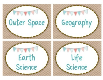 Classroom Library Labels (Burlap and Shabby Chic Themed)