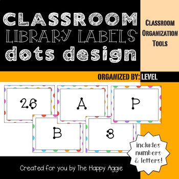Classroom Library Labels: By Level (Dots)
