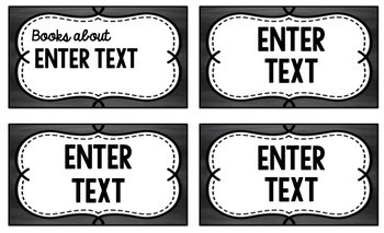 Classroom Library Labels