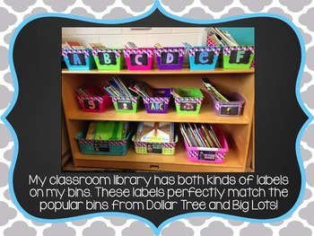 Classroom Library Labels {Chalkboard} EDITABLE
