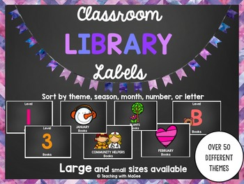 Classroom Library Labels (Chalkboard Edition)