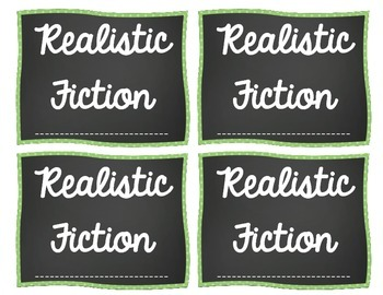 Classroom Library Labels-Chalkboard Theme