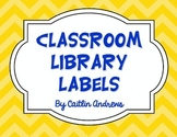 Classroom Library Labels by Genre-Chevron