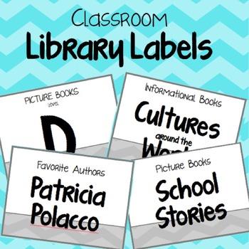 Classroom Library Labels {Chevron}
