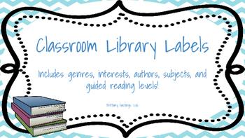 Classroom Library Labels Chevron