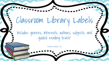 Classroom Library Labels Chevron