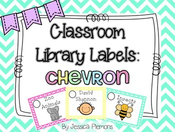 Classroom Library Labels: Chevron