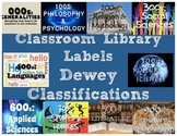 Classroom Library Labels - Dewey Classifications