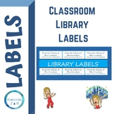 Classroom Library Labels (EDITABLE)