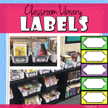 Classroom Library Labels EDITABLE