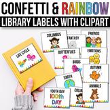 Classroom Library Labels - EDITABLE, Confetti Classroom Theme