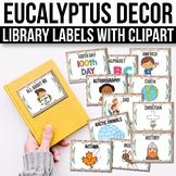 Classroom Library Labels EDITABLE, Modern Farmhouse Classroom Decor