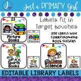 Classroom Library Labels EDITABLE - White