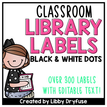 Classroom Library Labels EDITABLE for Bins & Books {Black