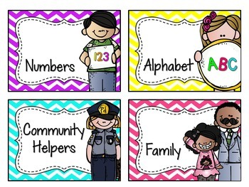Classroom Library Labels EDITABLE for Bins & Books {Colorful Chevron}