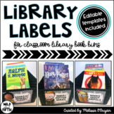 Classroom Library Labels - Editable Version Included