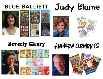 Classroom Library Labels - Favorite Authors