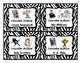 Classroom Library Labels (Favorite Authors) - Zebra Print