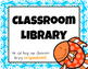 Classroom Library Labels (Fish Version)