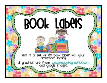 Classroom Library Labels Flower Theme