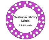 Classroom Library Labels - Fountas and Pinnell - Editable
