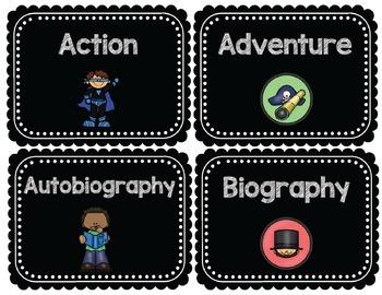 Classroom Library Labels- Genre Labels
