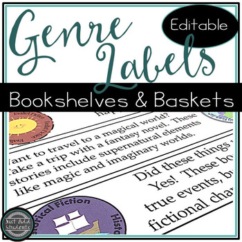 Classroom Library Labels for Bookshelves and Baskets