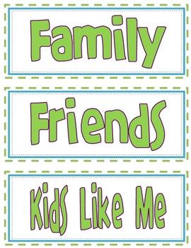 Classroom Library Labels - Green Font