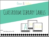 Classroom Library Labels - Green and Yellow