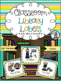 Classroom Library Labels {Gray, Yellow, and Turquoise}