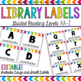Editable Classroom Library Labels - Guided Reading Levels