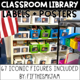Classroom Library Labels Iconic Figures