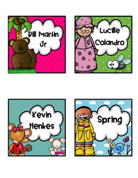 Classroom Library Labels In Fun Colors 3.5 x 3.5