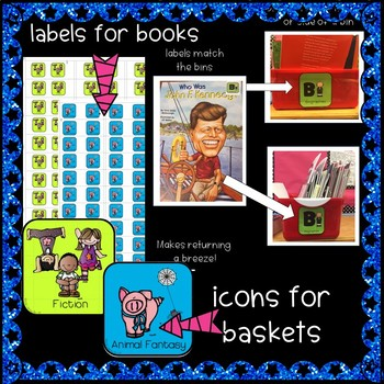 Classroom Library Labels & Labels for Books! Gr. 2-5!