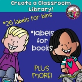 Classroom Library Labels & Labels for Books! Gr. 2-5! Plus More!