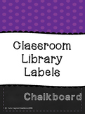 Classroom Library Labels (Larger Version)