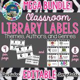 Classroom Library Labels Mega Bundle (Editable)