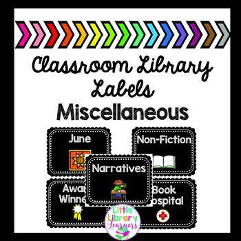 Classroom Library Labels- Miscellaneous Labels
