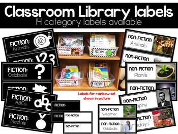 Classroom Library Labels, Modern Stock Photo Styled
