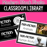 Modern Stock Photo Classroom Library Labels