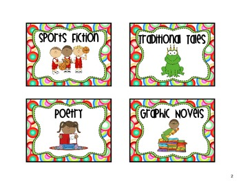 Classroom Library Labels Multicolored Circles