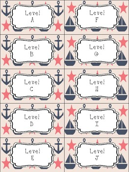 Classroom Library Labels: Nautical Edition